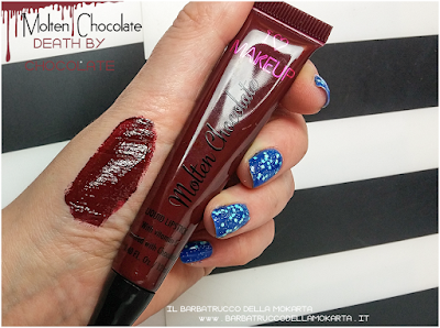 swatches death by  chocolate rossetto liquido lip lava molten chocolate liquid lipstick