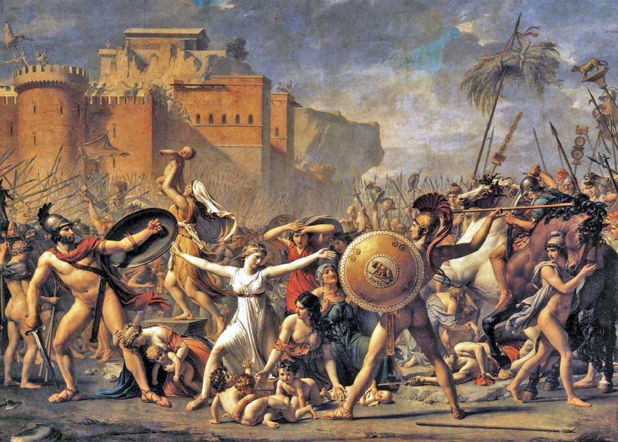 Historia Del Arte Imágenes Y Comentarios El Rapto De Las Sabinas Jacques Louis David