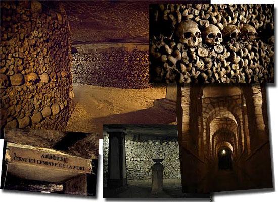 Lugares Assombrados - Catacumbas de Paris - França