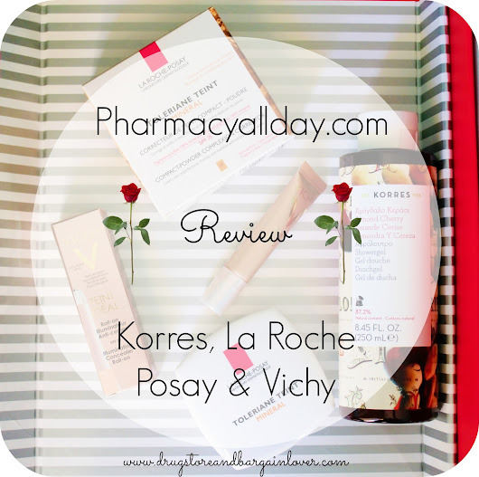 Review : Korres Almond Cherry Shower Gel, La Roche Posay Toleriane Teint Mineral 13 Sand Beige, Vichy Teint Ideal Illuminating Concealer Roll On Light () | Drugstore and Bargain Lover || Greek Beauty Blog
