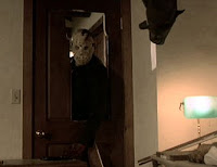 Jason Voorhees at the door
