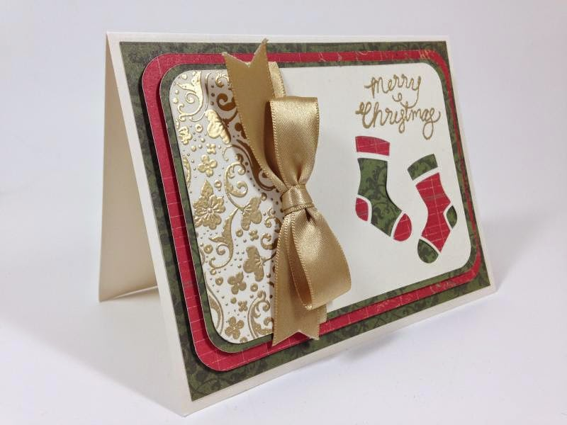 Close To My Heart Artfuly Sent Cricut Stockings card side view