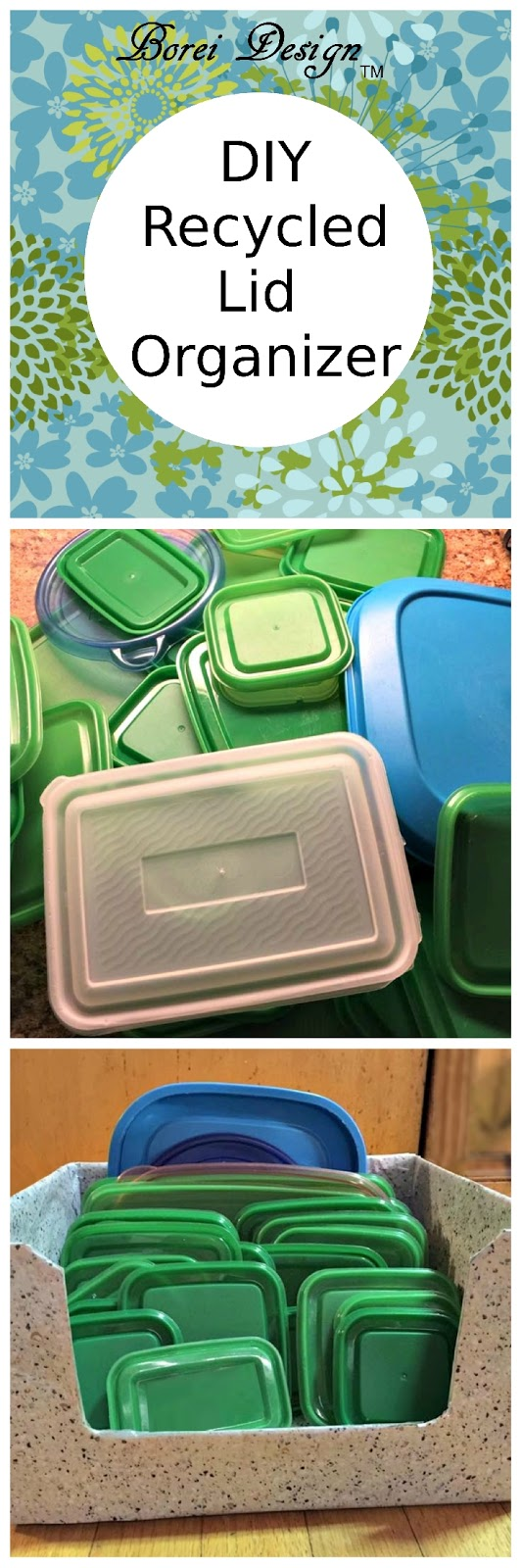 Freebie DIY Organizer for Plastic Food Storage Container Lids