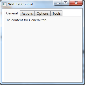 Codes Directory: WPF TabControl Style