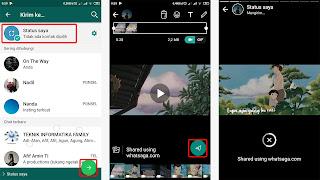 pemotongan status video secara otomatis whatsaga