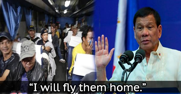 Nangako ang ating Mahal na Pangulong Duterte na Makakauwi Para sa Easter Sunday ang mga OFW sa Middle East!