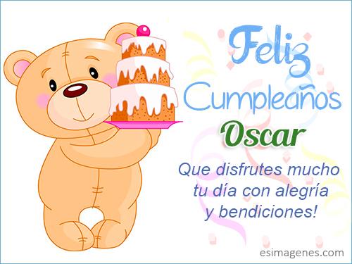 Feliz Cumpleaños Oscar - Imágenes Tarjetas Postales con