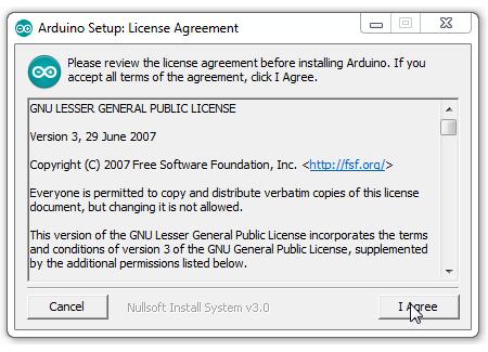 Persetujuan Instalasi Software IDE Arduino