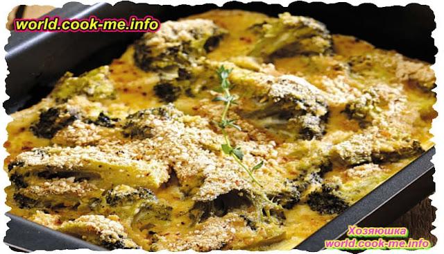 Запеканка из брокколи с творогом. Вегетарианское блюдо