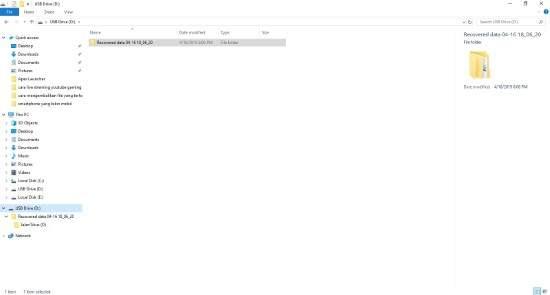 Folder Recovered Data