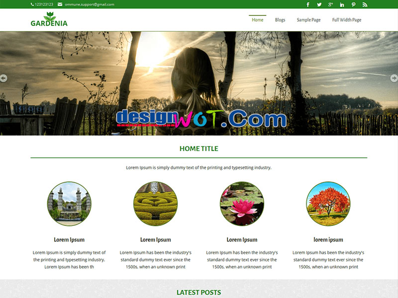 Gardenia Premium Quality WordPress Theme