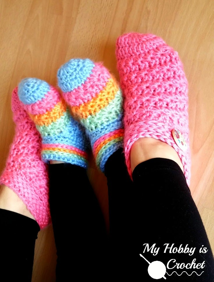 Crochet Patterns For Toddlers Slippers : My Hobby Is Crochet: Starlight Toddler Slippers - Free ...
