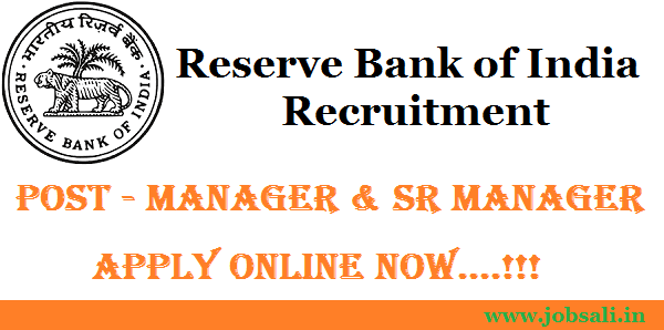 RBI Manager Recruitment, Reserve Bank of India Recruitment, RBI Vacancy