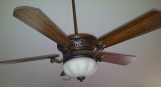 Ceiling fan installed