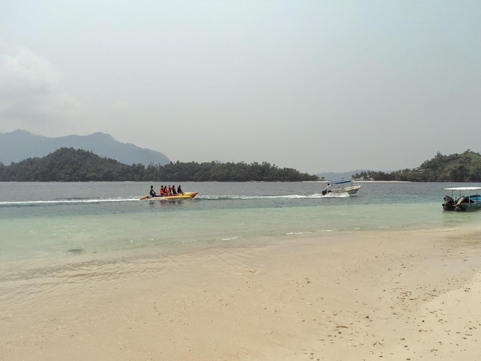 banana boat di pulau pagang