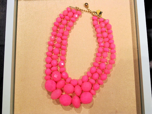 Kate Spade pink plastic beaded necklace