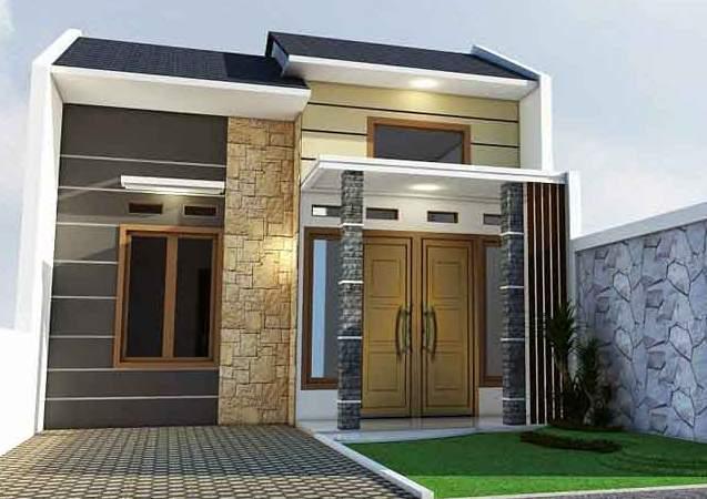 11 Bentuk Tiang Teras Rumah Minimalis Batu Alam Modern Rumah