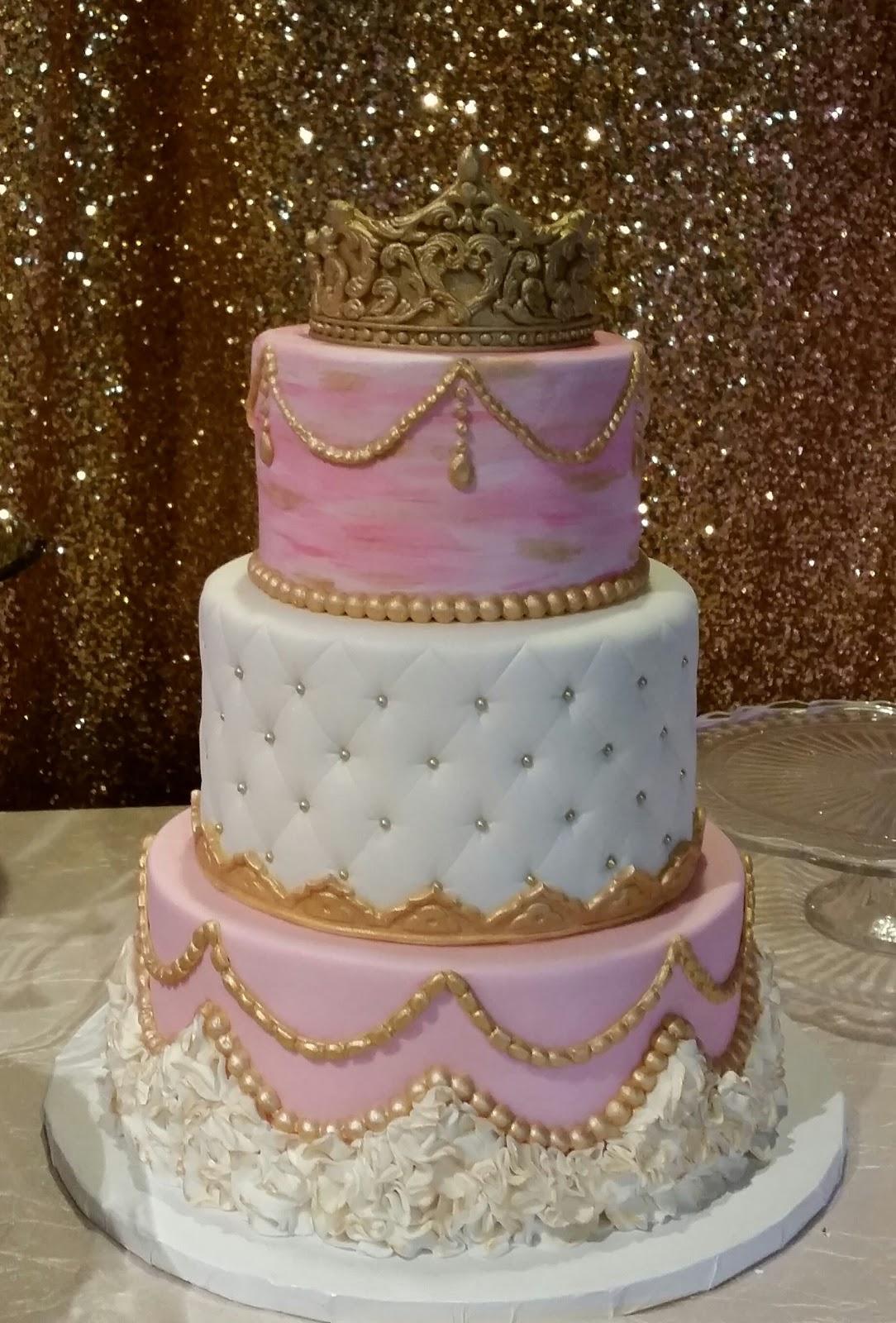 MyMoniCakes: Pretty in pink baby shower cakes. Onesie cake ...