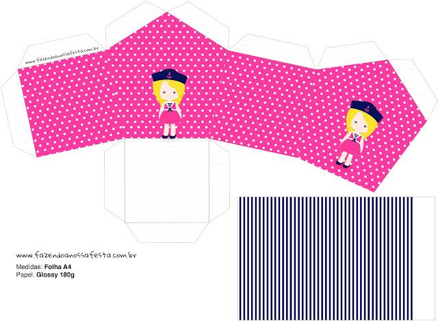 Marinerita Rubia: Caja con Forma de Casa para Imprimir Gratis