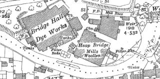 Bridge Hall Dye Works, OS map, 1928.