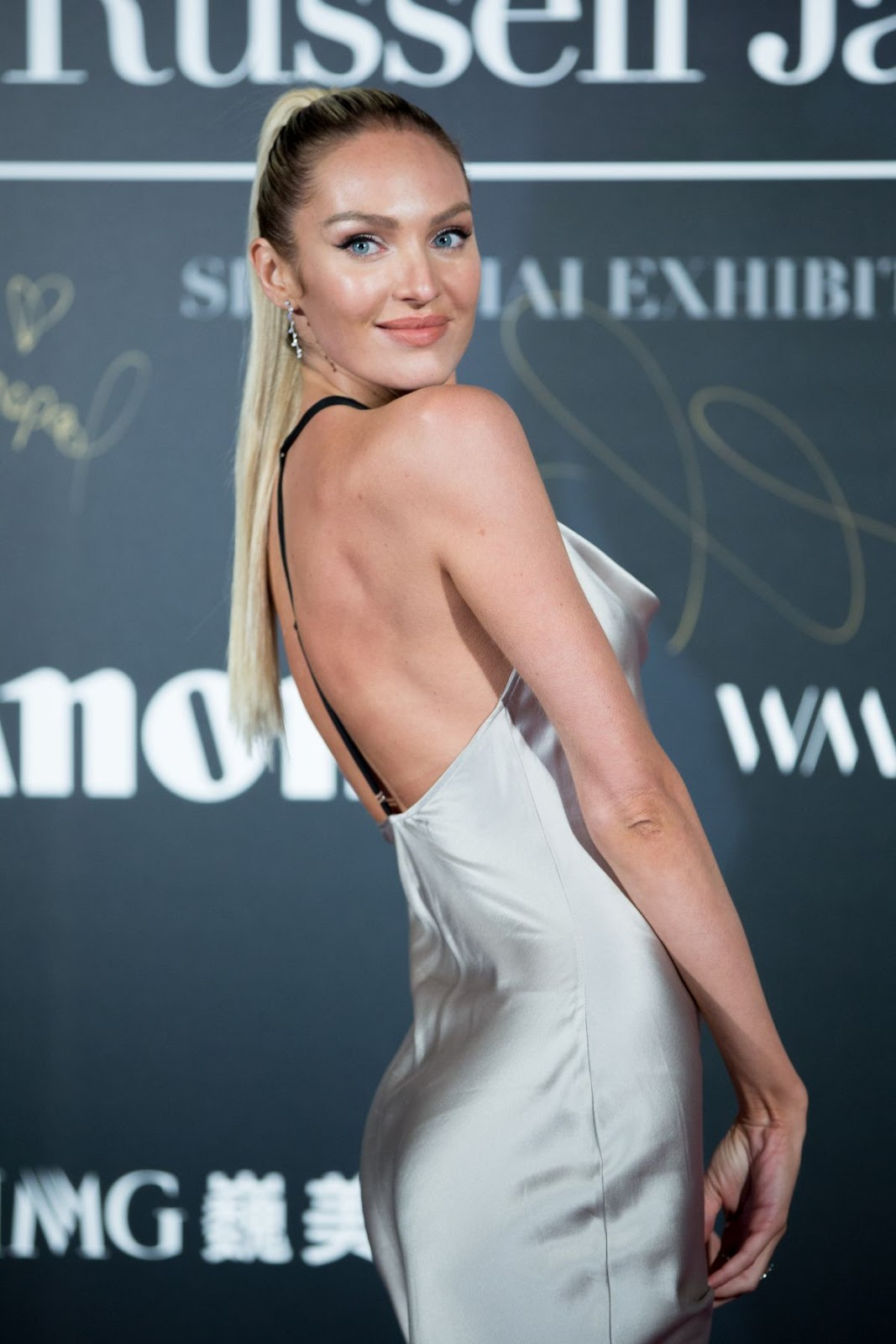 Candice Swanepoel at Mercedes-Benz Backstage Secrets by Russell James Book Launch and Shanghai Exhibition Opening Party