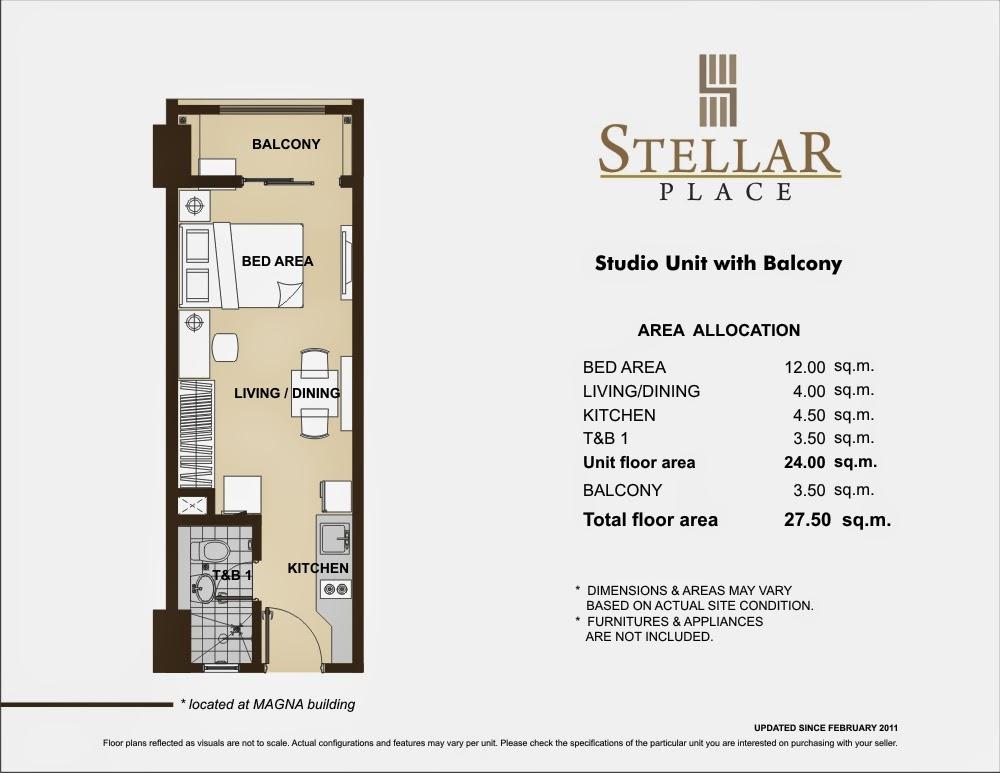 Stellar Place Studio Unit 27.50 sqm
