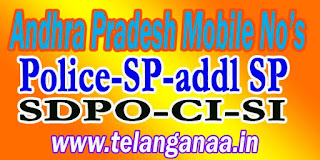 YSR kadapa District Police Office Mobile Numbers List in Andhra Pradesh State