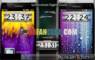NX Digital Clock Widget 1 2 - Nokia N8 - Belle - Widget Download