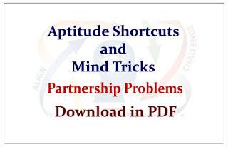 PARTNERSHIP SHORTCUT TRICKS NOTE