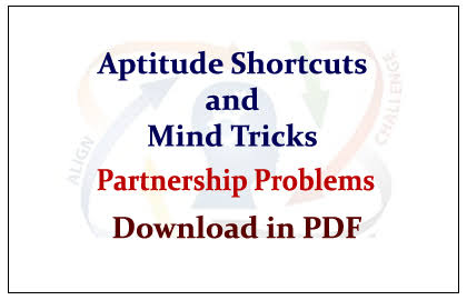 PARTNERSHIP SHORTCUT TRICKS NOTE