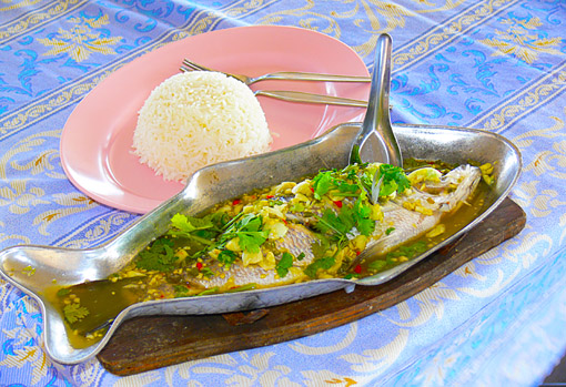 seafood in a Phuket food-court