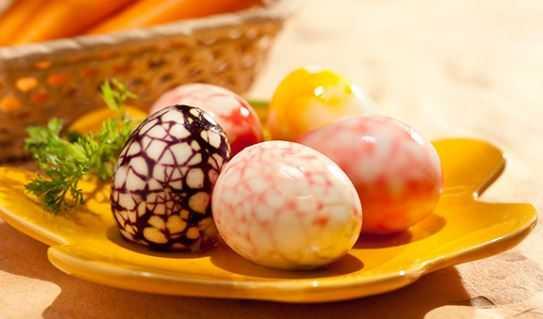 Ovos Cozidos Marmorizados com suco de saquinho