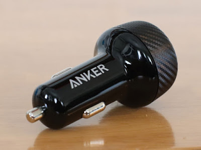 【Quick Charge 3.0】Anker PowerDrive Speed 2 (Power IQ対応 39W 2ポート カーチャージャー) シーガーソケットUSB充電器カーボン柄が良い感じ♪