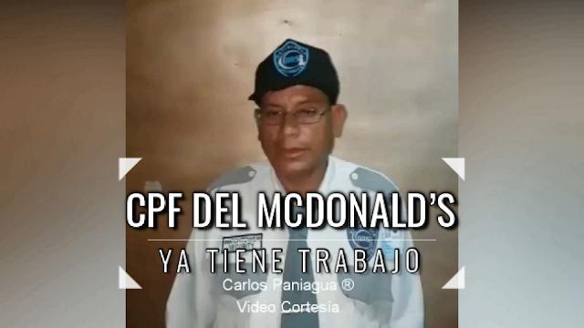 CPF Del McDonald's Ya Tiene Trabajo