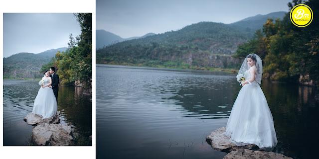 ảnh cưới đẹp tại hồ xanh đà nẵng