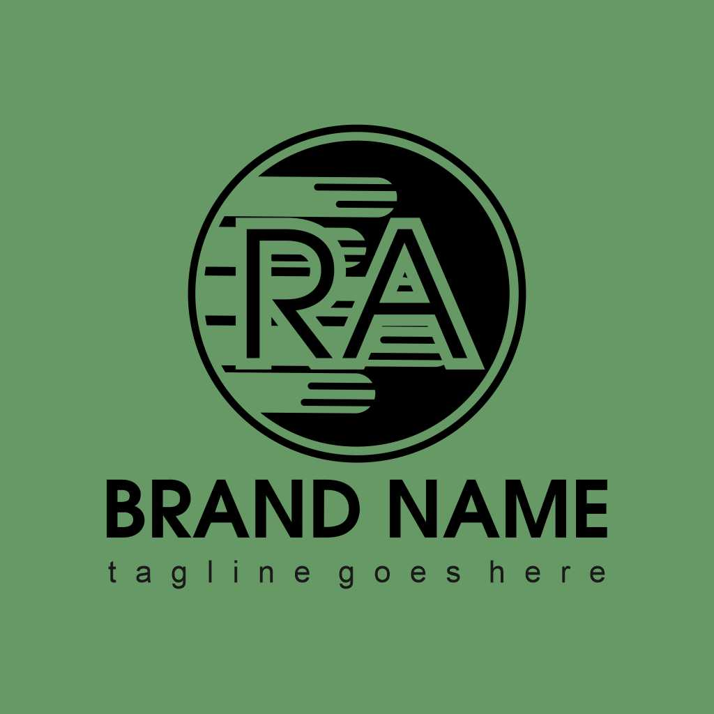Design Letters RA Logo Template Free Download Vector CDR, AI, EPS and PNG Formats