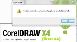 Trik Mengatasi Error 24 Di Corel Draw X4