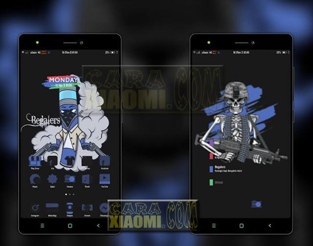 Update Tema MIUI Xiaomi CDM Blue Full Dark Theme Mtz