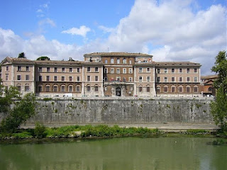 The former Santo Spirito Hospital, now a convention centre,  is situated on the banks of the Tiber close to the Vatican