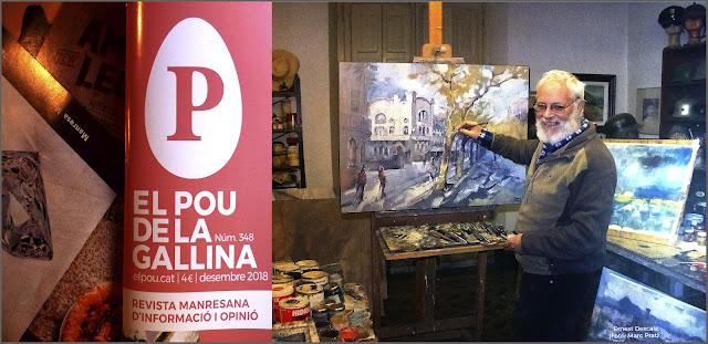 POU DE LA GALLINA-MANRESA-REVISTA-ART-ENTREVISTES-PINTORS-MANRESANS-REPORTATGE-PINTANT-PAISATGES-CASINO-PASSEIG-ARTISTA-PINTOR-ERNEST DESCALS