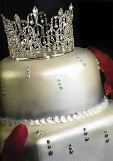 Pretty Awesome rhinestone Crown wedding cake topper