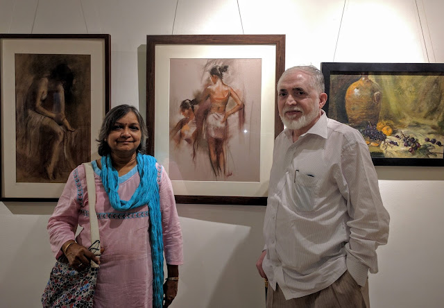 Artists Mrs. and Mr. Maruti Patil at Indiaart Gallery, Pune (www.indiaart.com)