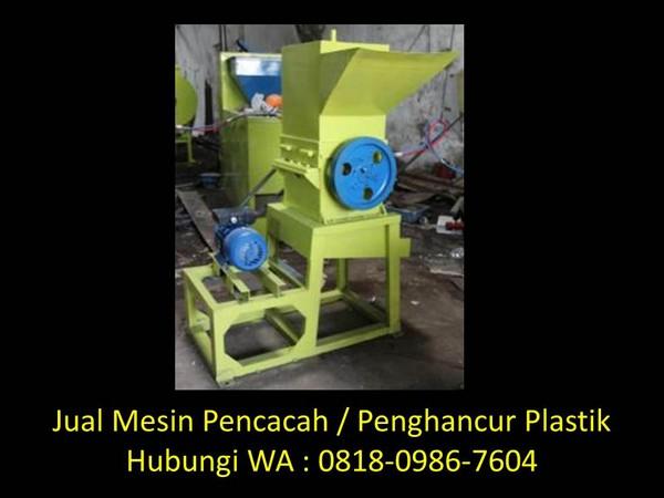 kegunaan mesin penghancur plastik di bandung
