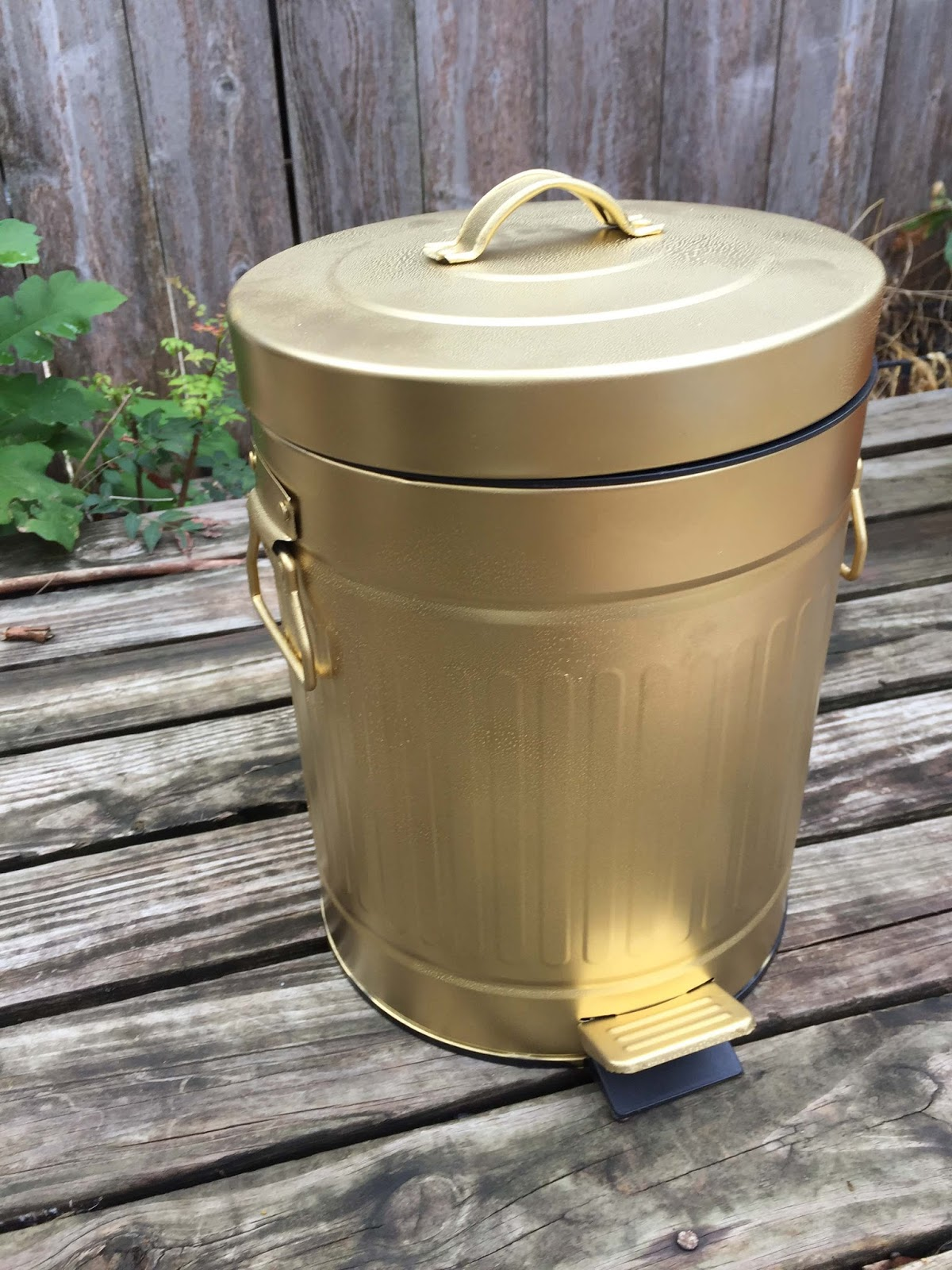 Christy Gold Trash Can