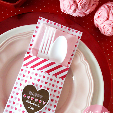 Valentine's Day | DIY Paper Cutlery Pockets