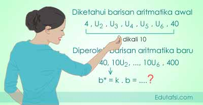 Menentukan beda baru barisan aritmatika