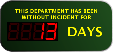 Days Since Last Incident Robshep