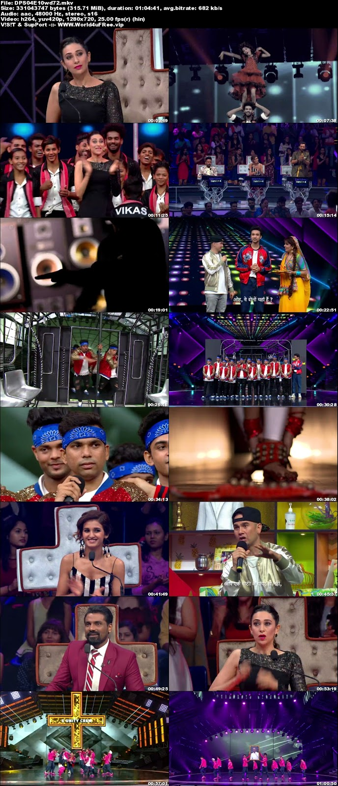 Dance Plus S4 10 November 2018 720p HDTV 300Mb x264 world4ufree.vip tv show Dance Plus 4 2018 hindi tv show Dance Plus 4 2018 Season 4 Star Plus tv show compressed small size free download or watch online at world4ufree.vip