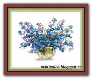 """Download embroidery scheme Сделано с любовью ЦВ-044 """"Колокольный перезвон"""""""