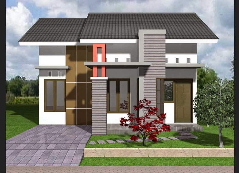 rumah minimalis 1 lantai sederhana 4